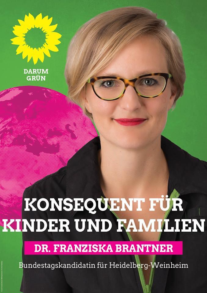 Plakat Franziska Brantner Familie